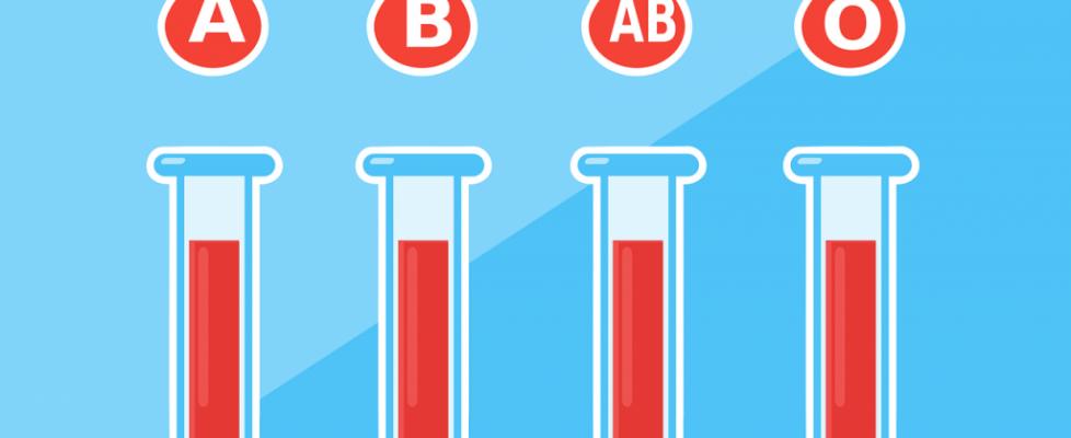 fiolki, krew, grupa krwi, A, B, AB, O