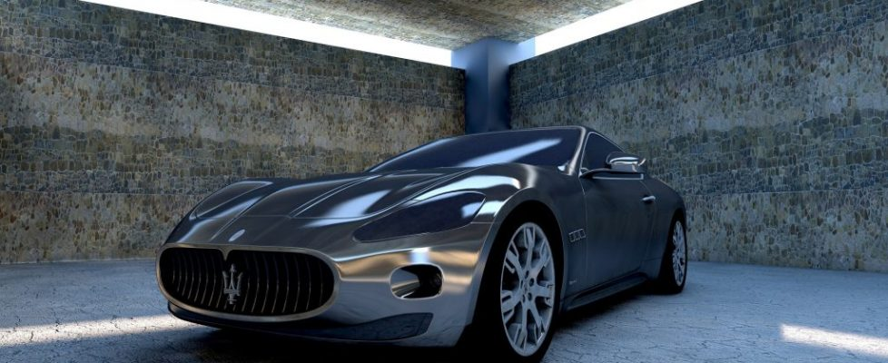 samochód, garaż, podziemie, nowoczesny,