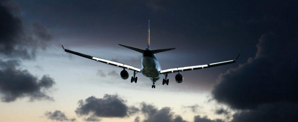 samolot, chmury, niebo, samolot pasażerski, loty